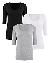 Pack of 3 Basic T-Shirts