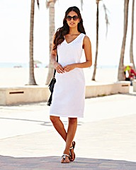 Linen Mix Knee length dress