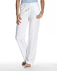 Linen Mix Trousers Length Extra Short
