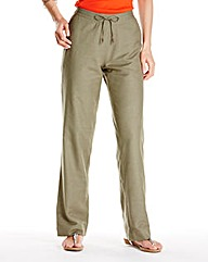 Linen Mix Trousers Length Regular