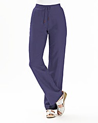Linen Mix Trousers Length Long