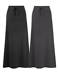 Pack of 2 Jersey Skirts