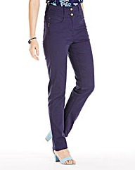 Helena Slim Leg High Waist Jean Long