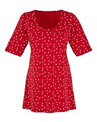 Petite Heart Print Jersey Tunic