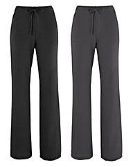 Pack 2 Straight Leg Trousers Regular