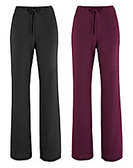 Pack 2 Straight Leg Trousers Regular