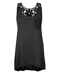 Sleeveless Jersey Lace Tunic
