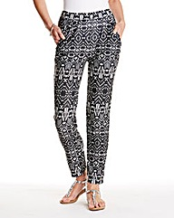 Printed Harem Trousers 27in
