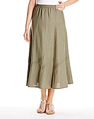 Linen Mix Skirt 27in