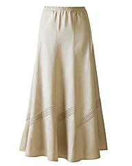 Linen Mix Skirt 27in