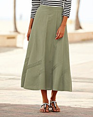 Linen Mix Skirt 25in