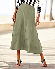 Linen Mix Skirt 33in