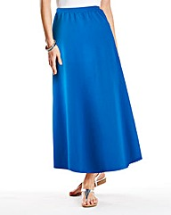 Mock Wrap Maxi Skirt