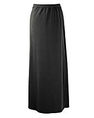 Mock Wrap Maxi Skirt