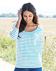 Three-Quarter Sleeve Organic Cotton Top