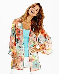 Rust Print Kimono