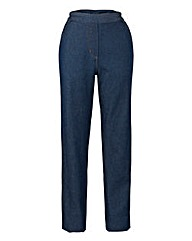 Pull On Straight Leg Jeans 27in
