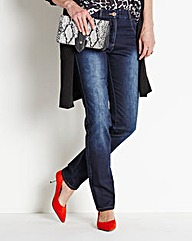 MAGISCULPT Straight-Leg Jean Length 27in