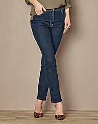 Straight-Leg Jeans Length 33in