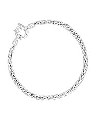 Simply Silver Intertwined Chain Bracelet