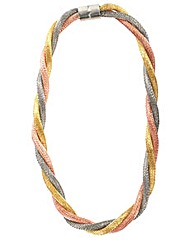 Mesh Chain Effect Twisted Necklace