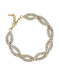 Jon Richard Diamante Gold Twist Bracelet