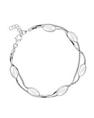 Simply Silver Multi Row Bead Bracelet