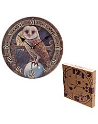 Lisa Parker Barn Owl Picture Clock