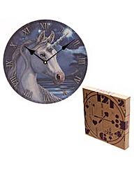 Lisa Parker Unicorn Picture Clock