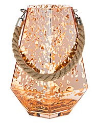 Copper Glow Large Hexagon Lantern