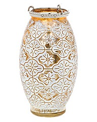 Morocco Gold Tall Tealight Lantern