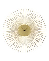 Sunburst Metal Wall Clock