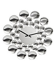 Bubbles Metal Wall Clock