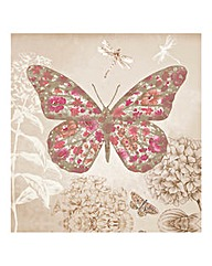 Enchanted Butterfly Glitter Canvas