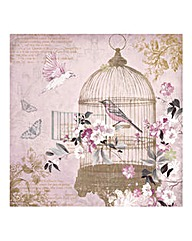 Enchanted Birdcage Printed Canvas