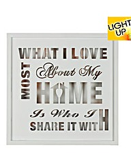 Home Light-Up Wall Plaque