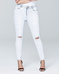 Chloe Ripped Knee Skinny Jeans Long