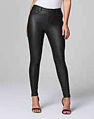 Chloe Stretch Coated Skinny Jeans Reg