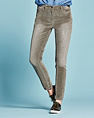 Cord Slim Leg Jeans Regular
