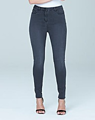 Sophia Fly Front Jeggings Short