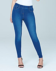 Amber Pull-On Skinny Jeggings Short