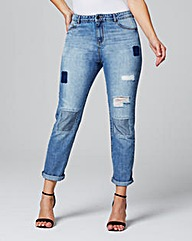 Rip & Repair Mom Jeans Reg