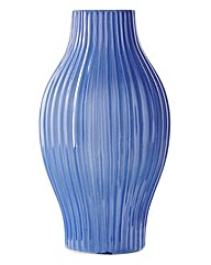 Lorraine Kelly Blue Ridged Tall Vase