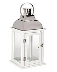 Lorraine Kelly White Wooden Lantern
