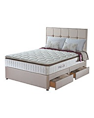 Sealy Nostromo Divan Set with 4 Drawers
