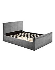 Amalfi Gaslift Storage Double Fabric Bed