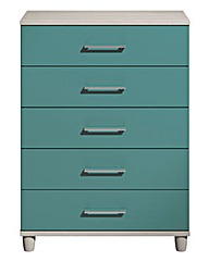 Valencia 5 Drawer Wide Chest