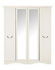 Darley 4 Door Wardrobe with Mirror