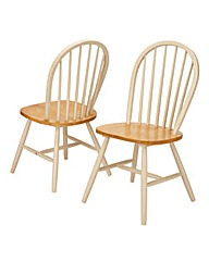 Hove Farmhouse Style Pair of Chairs