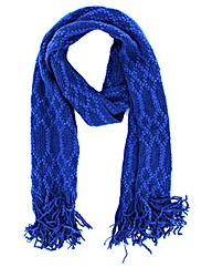 Patterned Knitted Scarf